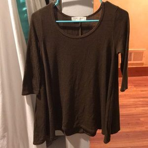 Olive blouse from Urban Outfitters